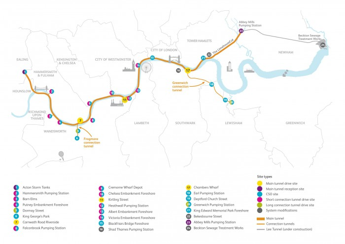 Proposed-tunnel-route-and-Key_Thames_Tideway_Tunnel