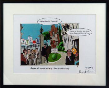 Der kolorierte Lohrmann-Cartoon