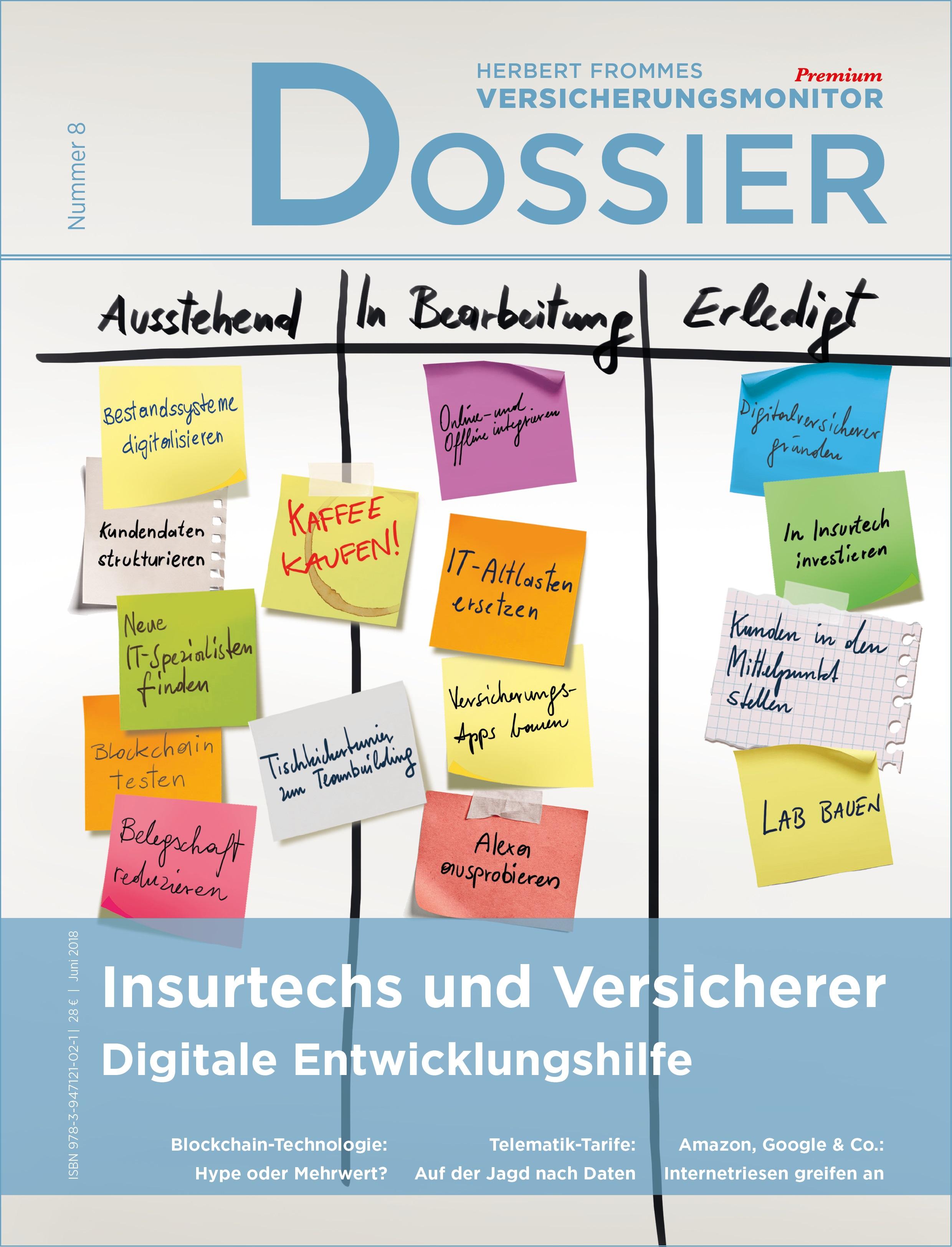Dossier 8: Insurtechs und Versicherer – Digitale Entwicklungshilfe