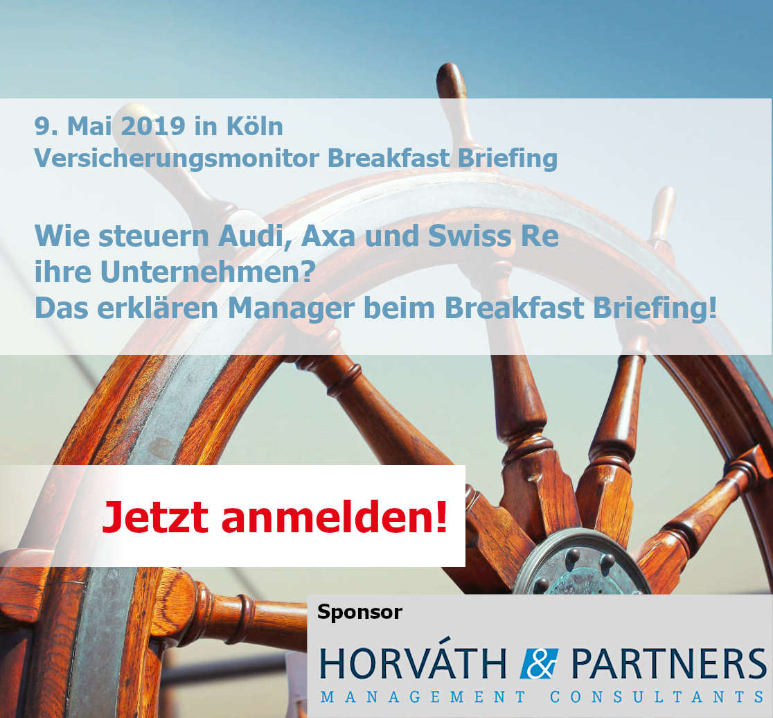 Breakfast Briefing Webseite Audi, Axa und Swiss Re, Horváth & Partners