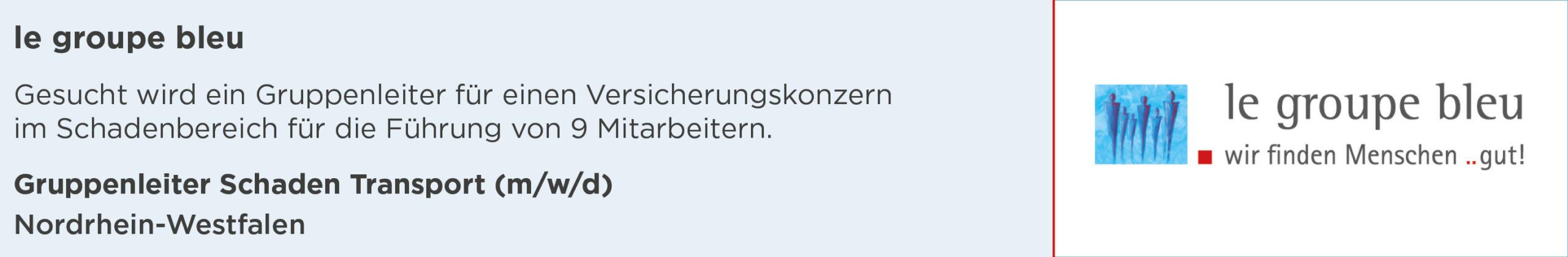 le groupe bleu, stellenanzeige, experte mobilität schaden, nordrhein-westfalen