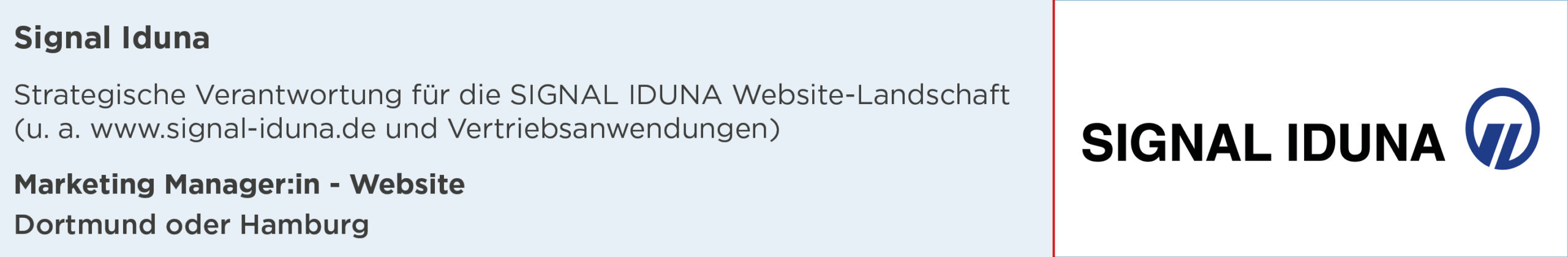 Signal Iduna, Stellenanzeige, Marketing Manager, Website, dortmund, hamburg