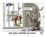 GDV-Spitze in Eile Cartoon_Lohrmann_GDV_premium