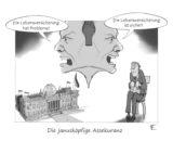 cartoon_lohrmann_januskopf_premium