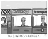 Kfz-Wechselstube cartoon_lohrmann_Vergleichsportale_premium