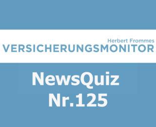 Versicherungsmonitor VMNewsQuiz Versicherungsquiz 125