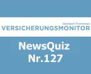 Versicherungsmonitor VMNewsQuiz Versicherungsquiz 127