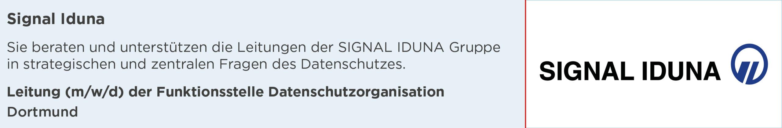 signal Iduna, Leitung, Funktionsstelle, datenschutzorganisation, Stellenanzeige, dortmund