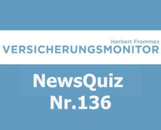 Versicherungsmonitor VMNewsQuiz Versicherungsquiz 136