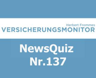 Versicherungsmonitor VMNewsQuiz Versicherungsquiz 137