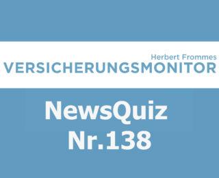 Versicherungsmonitor VMNewsQuiz Versicherungsquiz 138