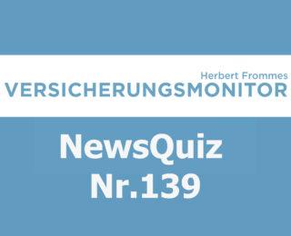 Versicherungsmonitor VMNewsQuiz Versicherungsquiz 139