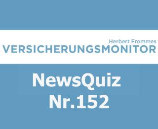 Versicherungsmonitor VMNewsQuiz Versicherungsquiz 152